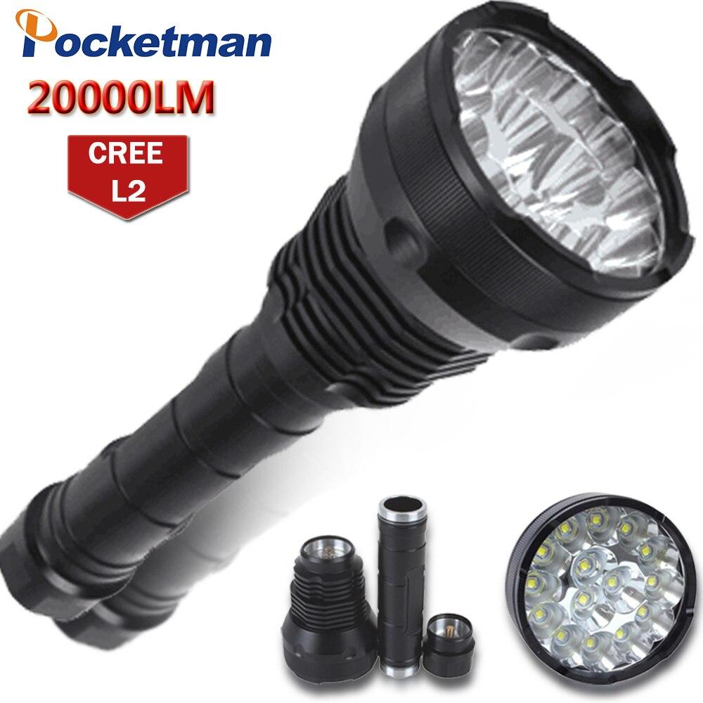 20000 Lumens LED Flashlight 15 x XM-T6 LED 5 Modes Waterproof Super Bright LED Torch Flashlight Linterna Lampe Torche Lamp mayitr super bright led flashlight xml 3506 t6 20000 lumens 5 modes zooming torch
