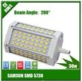 Free shipping 118mm led R7S light 30w J118 R7S lamp 3 years warranty flood light source AC85-265V