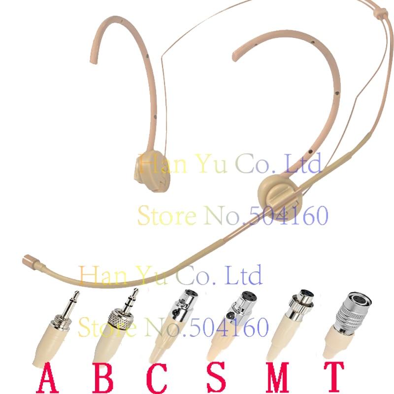 Carnagione Dual Hook Head Cuffia Microfono Per Per SennHeiser G1 G2 G3 Senza Fili 3.5mm 1/8