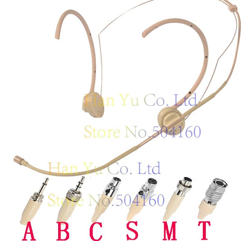 Teint Double Hook Head Headset Microphone Pour Pour SennHeiser G1 G2 G3 Sans Fil 3.5mm 1/8 Vis de Blocage Stéréo