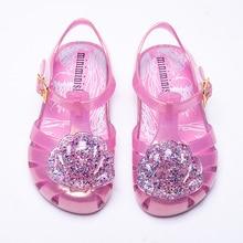 KINE PANDA Summer Beach Kids Shoes Girls Sandals Princess Jelly PVC Nice Dress Toddler Baby Girl 0-3Y Cute Shell Design