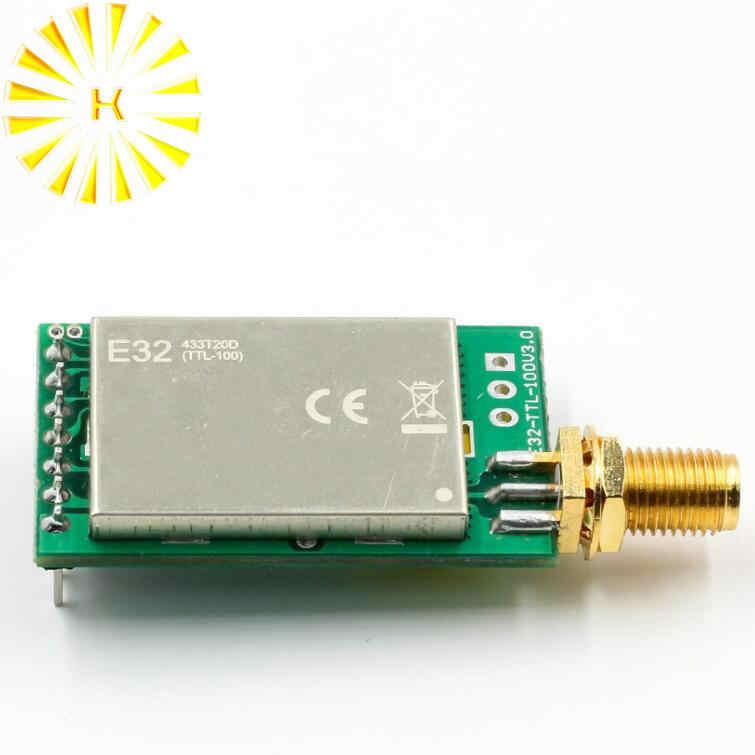SX1278 433 MHz módulo rf inalámbrico iot transceptor CDSENET E32-433T20DT UART de largo alcance 433 MHz transmisor receptor conector