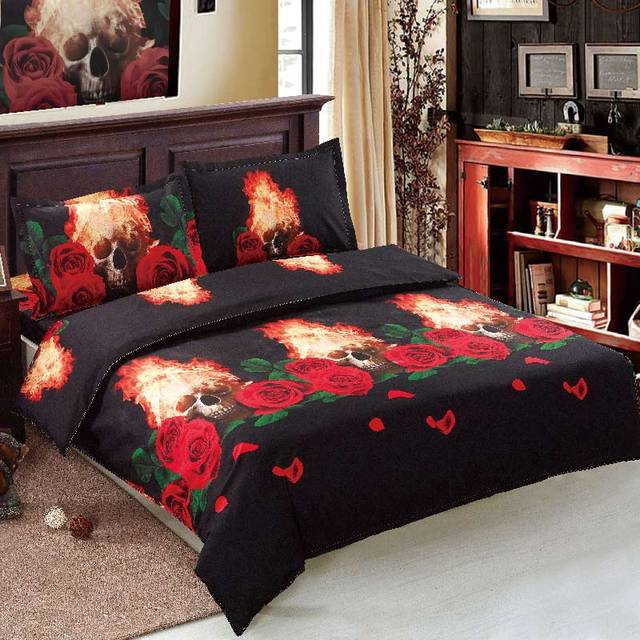 3D SKULL THEMED 3D BEDDING SET (6 VARIAN)