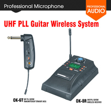 OK-6T Guitar Wireless System Transmitter Receiver UHF PLL Digital Bass Instrument Wireless System Professional