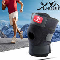 【】Knee Adjustable Sports Leg Support Brace Wrap Protector Pads Sleeve Cap Patella Guard ,one Size,black