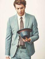 2018 Fresh Mint Green Tuxedos Men Suits Men's Formal Terno Party Custom Groomsmen Best Men Wedding Suits (Jacket+Pants+Tie)