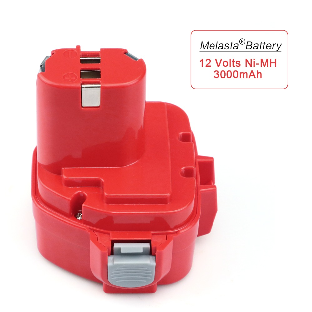 MELASTA Upgrade 12v 3000mAh NIMH Replacement Battery for Makita 1220 PA12 1222 1233S 1233SA 1233SB 1235 1235A 1235B 192598-2 аккумулятор makita 12в 1 8ач nimh тип 1235 193059 5