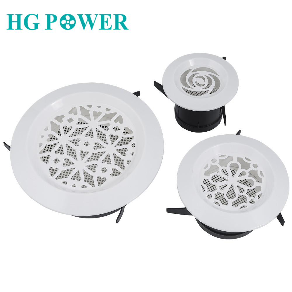 Plastic Air Vent Extract Valve Grille Round Ventilation Grill Diffuser Ducting Ventilation Cover For Bathroom Kitchen Toilet New