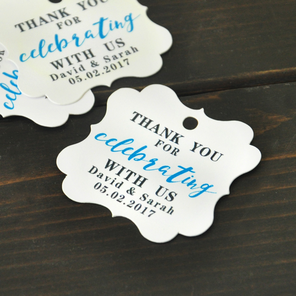 Personalized Wedding Tags,Wedding Thank You Tags,Wedding Gift Tags ...