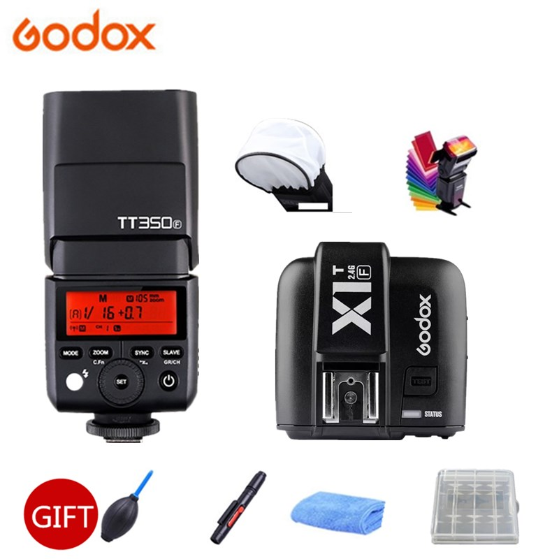 GODOX Mini TT350F Speedlite TTL HSS 2 4GHz 1 8000s GN36 Flash Pocket lights TT350 X1T