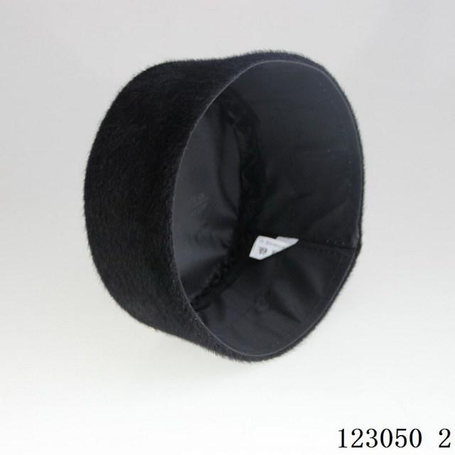 Winter Muslim men hat black warm cap