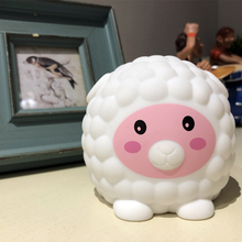 7 Colors Changed  Cartoon Cute Sheep USB Charging Light Soft Table Lamp Home Decor for Kids Touch Control Night light