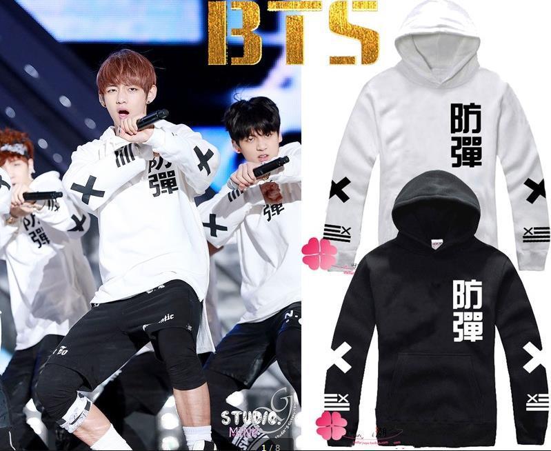 Kpop BTS BTS club de jeunes bulletproof soulager laine laine ras du cou sweat sweat à capuche manteau veste BTS BTS enfants