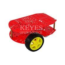 Бесплатная доставка! новый CR0024 красный пористых два привода умный автомобиль для arduino