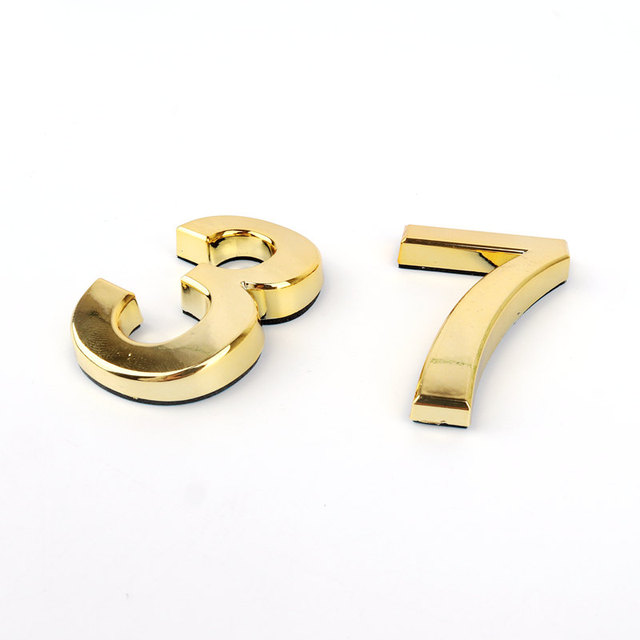 Gold Color Self-Adhesive Digit Sign