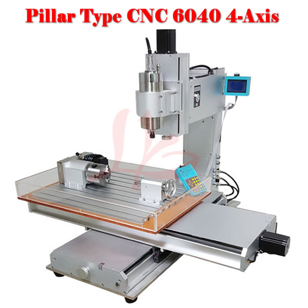 4axis wood carving machine 6040 cnc milling machine cnc router wood milling machine cnc 3040z vfd800w 3axis usb for wood working with ball screw
