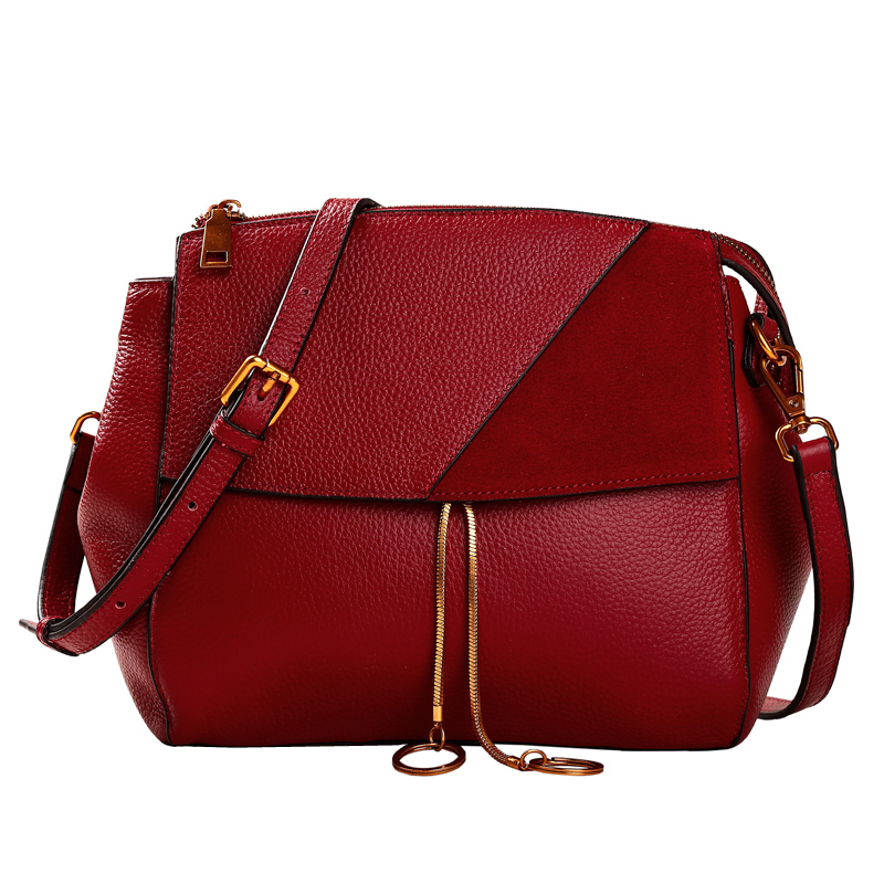 Luxury Genuine Leather Bag Famous Brands Women Messenger Bags Women Handbags High Quality Female Crossbody Shoulder Bag Tote chispaulo women genuine leather handbags cowhide patent famous brands designer handbags high quality tote bag bolsa tassel c165