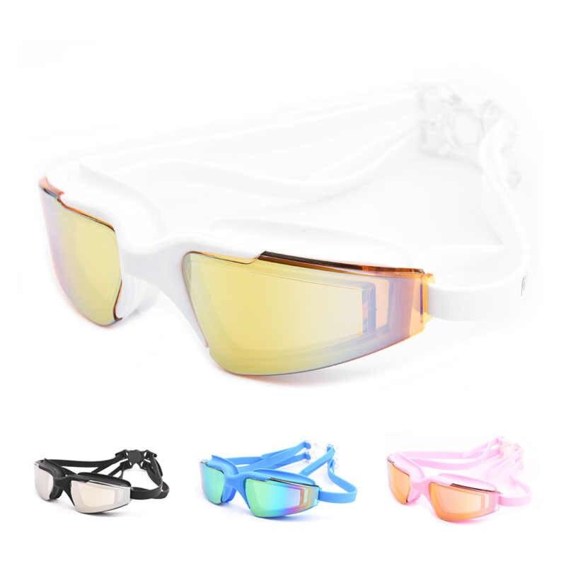 Nieuwe 2019 Zwembril Volwassenen Anti-Fog Swim Eyewear Mannen en Vrouwen Professionele Waterdichte Siliconen Zwembad Duiken Bril