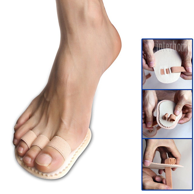 1 Pair Toes Overlap Hammer Toe Correction Pad Soft Bunion Splint Corrector Forefoot Mat Brace for Hallux Valgus Foot Care 1