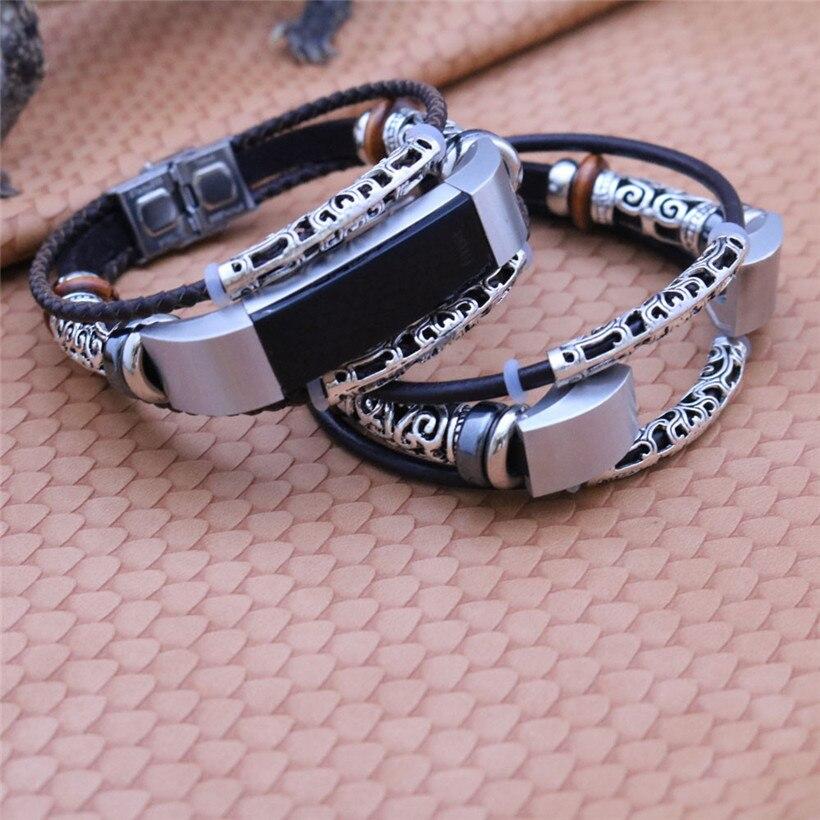 Für Fitbit Alta/Fitbit Alta HR Ersatz Leder Armband Band Strap Armband tropfen verschiffen 0811