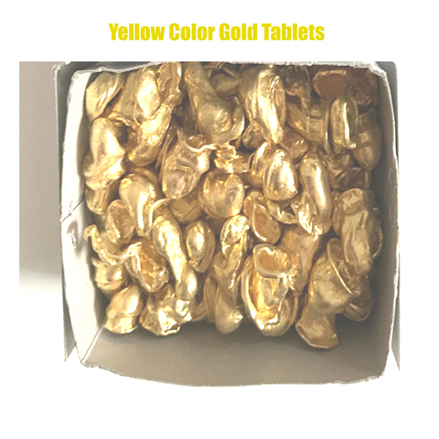 500G Dental Lab Products YELLOW Metal For Full Cast Crown Yellow Good Quality On FCC casting Metal Alloy