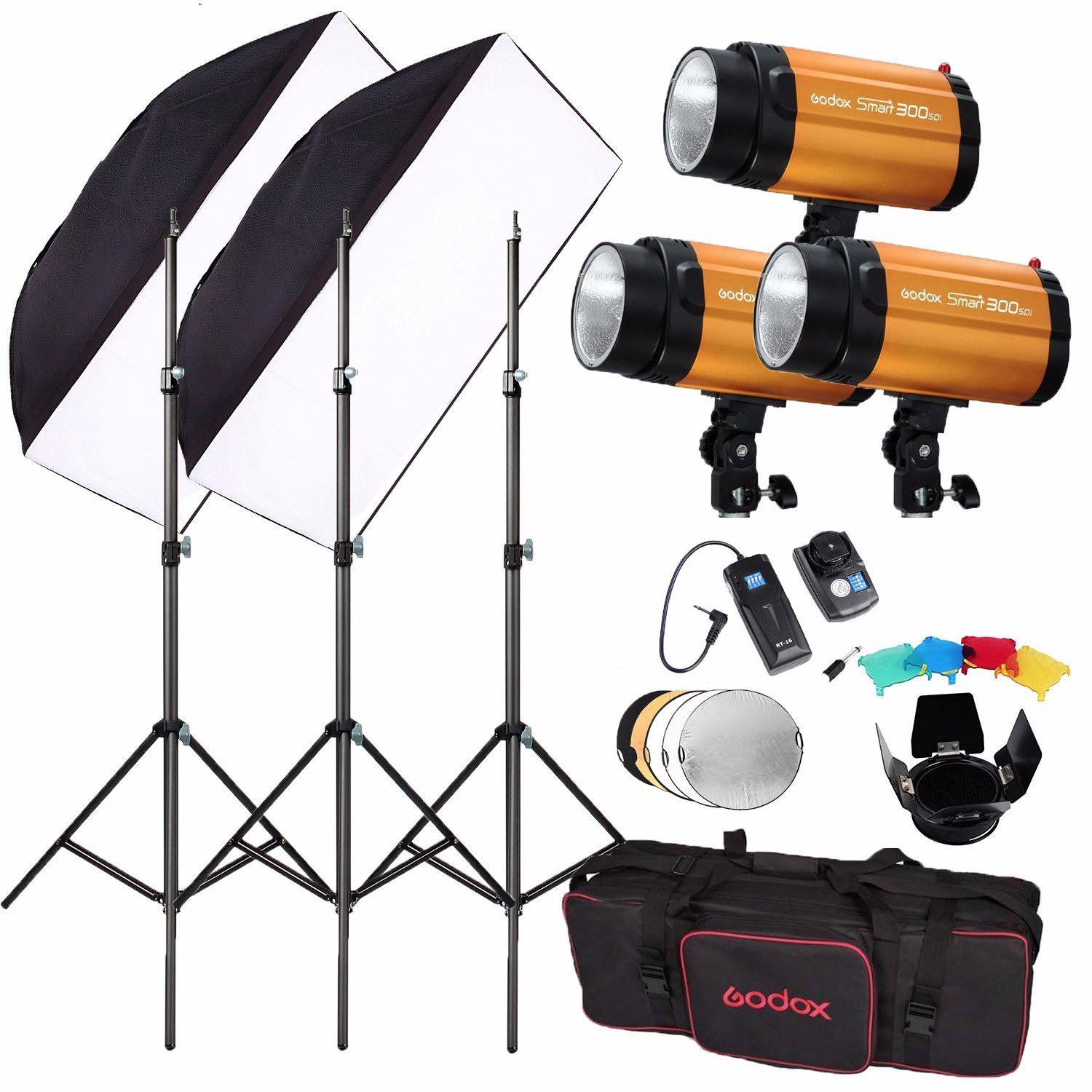 Godox 300SDI 900W(300Wx3) Studio Flash Lighting With Trigger Kit Photography Strobe Studio Light For Video Photographic Lighting cononmark 400ws g4 0 hss photographic studio outdoor strobe flashlight 3g remote video light for dslr camera