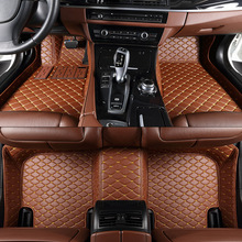 TENGRUI Custom Car Floor Mats for MINI COOPER COUNTRYMAN CLUBMAN CABRIO JOHN COOPER WORK Auto Floor Mats Accesserios Leather Mat