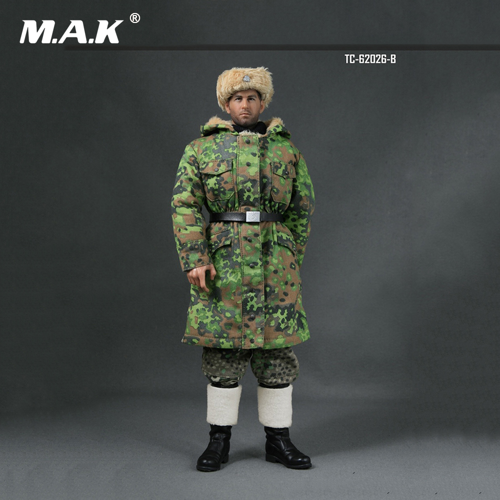 1/6 Scale WWII German Soldier Uniforms Winter Clothes Models for 12 inches Action Figure 1 6 scale soldier figure accessory dragon karabiner kar 98k carbine rifle clip w sandbags wwii german army 12 action figure