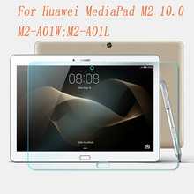 Ultra Thin HD Tempered Glass for Huawei MediaPad M2 10.0 Screen Protector for Huawei MediaPad M2 10.0 Inch Tablet Glass Film 9H цена и фото
