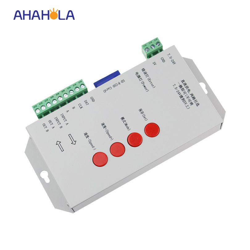 T-1000s ws2801 ws2811 ws2812 ws2812b controller dc 5-24v sd card led pixel controller for digital strip max control 2048 pixel arlight контроллер hx 801sb 2048 pix 5 24v sd card