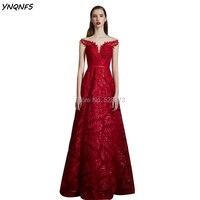YNQNFS ED152 нормкор элегантные красные вечерние платья Длинные вечерние мяч Sheer Рубашка с короткими рукавами блестящие Мать невесты платья 2019