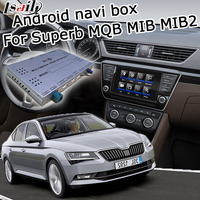 Lsailt Android GPS navigation box for Skoda Superb Octivia MQB MIB MIB2 system 6.5 8 9.2 video interface box with youtube