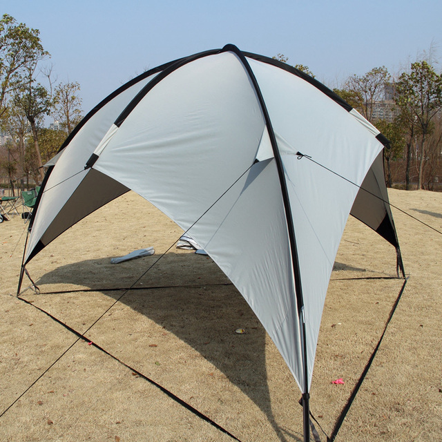 UV Protection Gazebo Tent Large Beach Tent Waterproof Camping Tent Beach Umbrella Awning BBQ Sun Shelter Outdoor Sun Canopy
