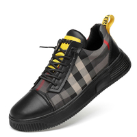 new arrival high quality men casual split leather shoes lace up flats platform non slip sneakers young student shoe chaussure
