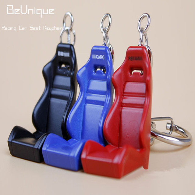 Auto Parts Key Chain Metal Racing Car Seat Keychain Modified Race Ring Pendant