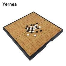 Yernea pliable jeu d'échecs magnétique de Go jeu de société jeu d'échecs pièces ensemble complet en plastique 38*38*2.8CM taille cadeau de divertissement