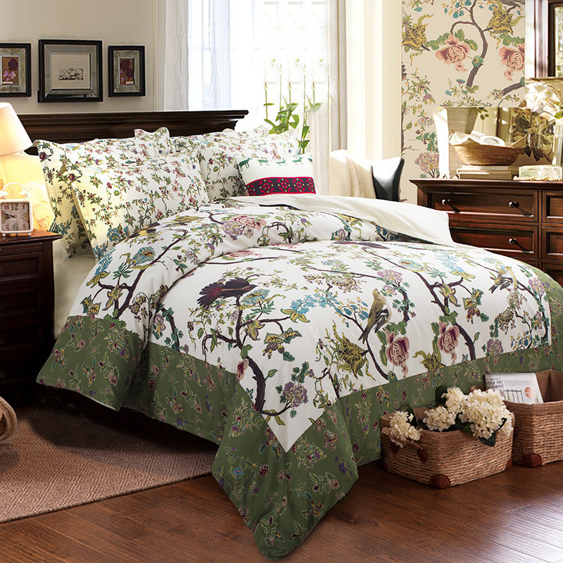 Hot Sales Leaf Cotton Bedding Designer Comforter Sets Hume