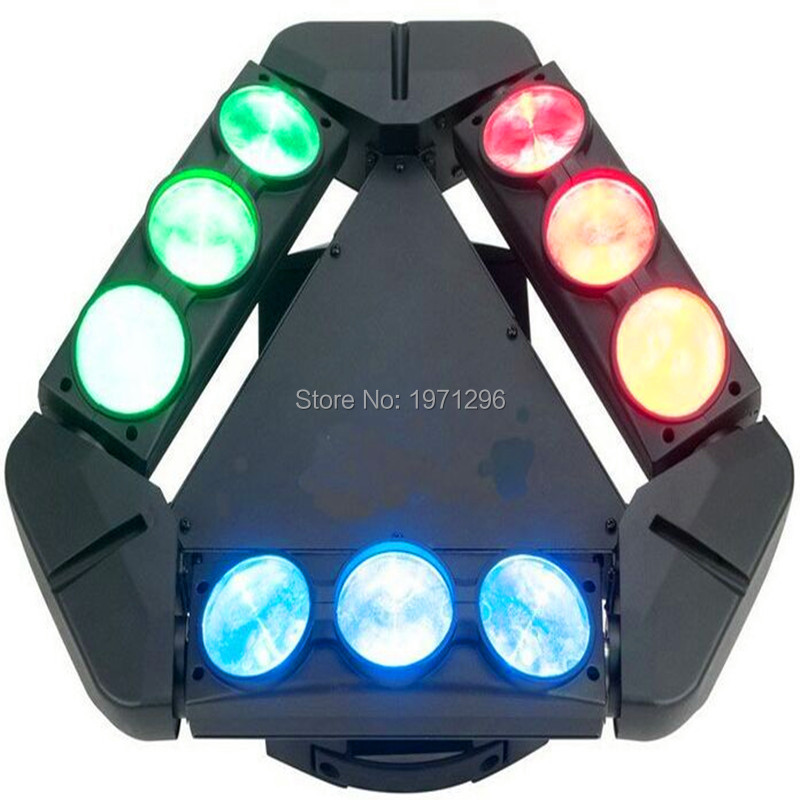 2017 hot New 9 Eyes Led Spider Beam Light 9x10W RGBW Led Stage Light Professional Lighting DMX 9/34CH Disco Club Dj Moving Head 9 moving head laser spider light green color 50mw 9 triangle spider moving head light laser dj light disco club event