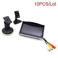10 PCS 5 Car Monitor 12 24V Truck In Car TFT LCD Screen Suction Cup & Dash Stand for Backup Camera DVD Media Player