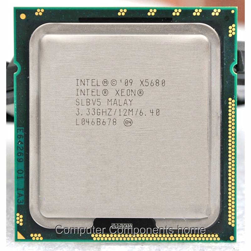 Lntel LGA processador Xeon X5680 1366 (3.333 GHz/12 MB/6 núcleos/Socket 1366/6. 4 GT/s QPI) apropriado X58 motherboard