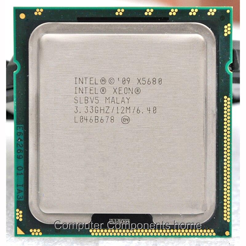 Lntel Xeon X5680 processeur LGA 1366 (3.333 GHz/12 MB/6 noyaux/Socket 1366/6. 4 GT/s QPI) adapté X58 carte mère