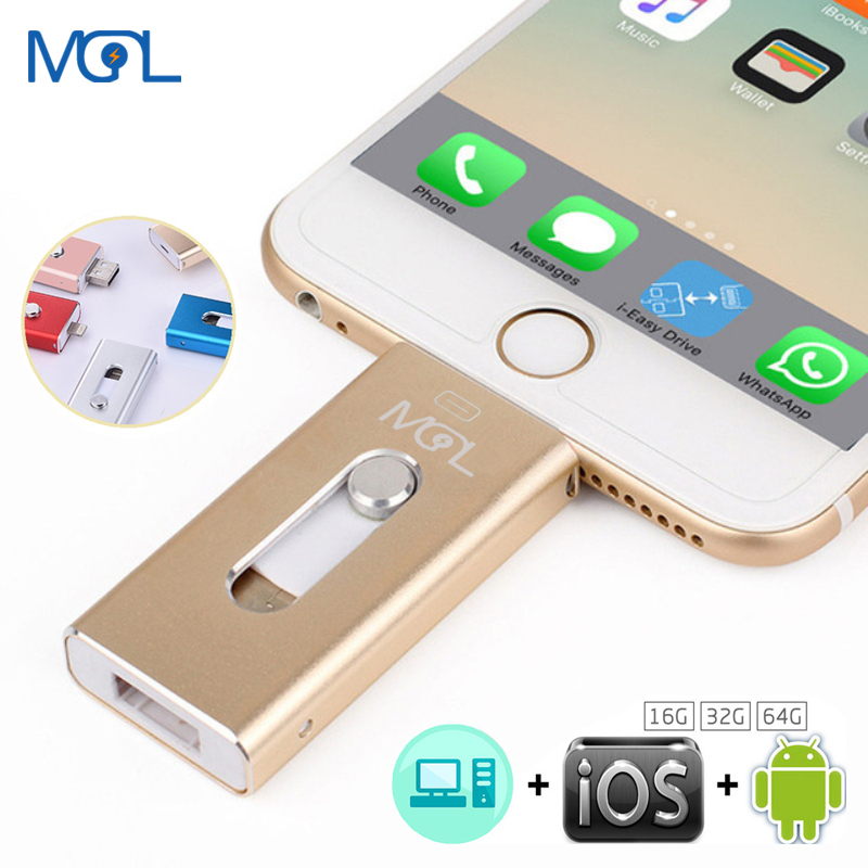 Unidade Flash USB OTG MGL 8G 16G 32G 64G Para iPhone X/8/7 plus/7/6 s Plus/6 s/5/5S/SE & ipad iFlash Unidade memory Stick Pendrive