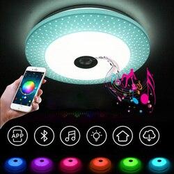 Salon lampka do sypialni lampa studyjna restauracji ściemniania APP + pilot zdalnego sterowania Bluetooth oświetlenie do zastosowań muzycznych foyer dla dzieci sypialnia sufit w Oświetlenie sufitowe od Lampy i oświetlenie na