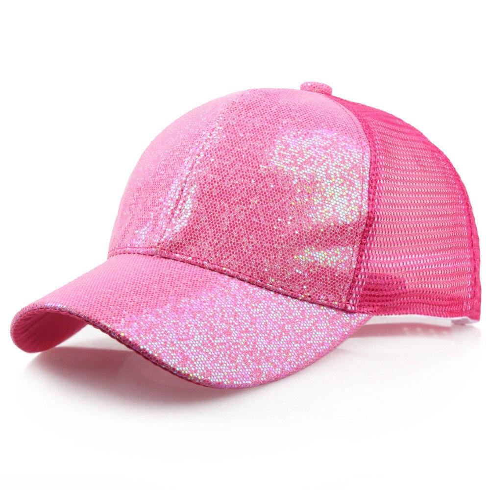Блестящая бейсбольная кепка с хвостом, женский рюкзак, грязная летняя шапка, Женская регулируемая бейсболка, шляпы в стиле хип-хоп, новая мода - Цвет: HOT