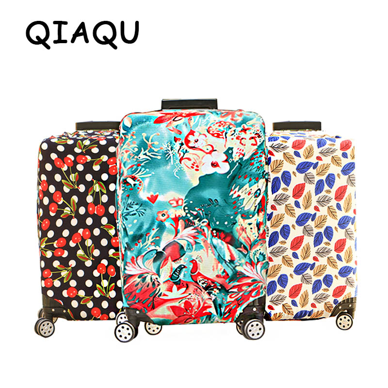 QIAQU High Quality Fashion Travel On Road Luggage Cover Protective Suitcase Cover Trolley Case Travel Luggage  Dust Cover