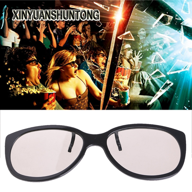 XINYUANSHUNTONG 3D Glasses Clip-On Type Circular Passive Polarized 3D Glasses For TV Real 3D Cinema 0.22mm