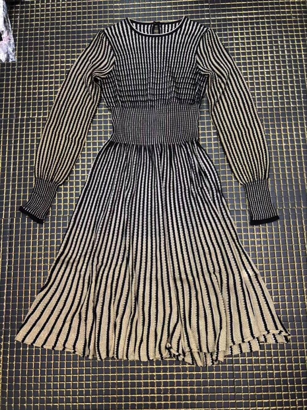 Qualité Partie A Élégante Style ligne Dames Robe À Haute Soirée Mode Manches Parti Lanterne Longues Automne De dxCZOqw