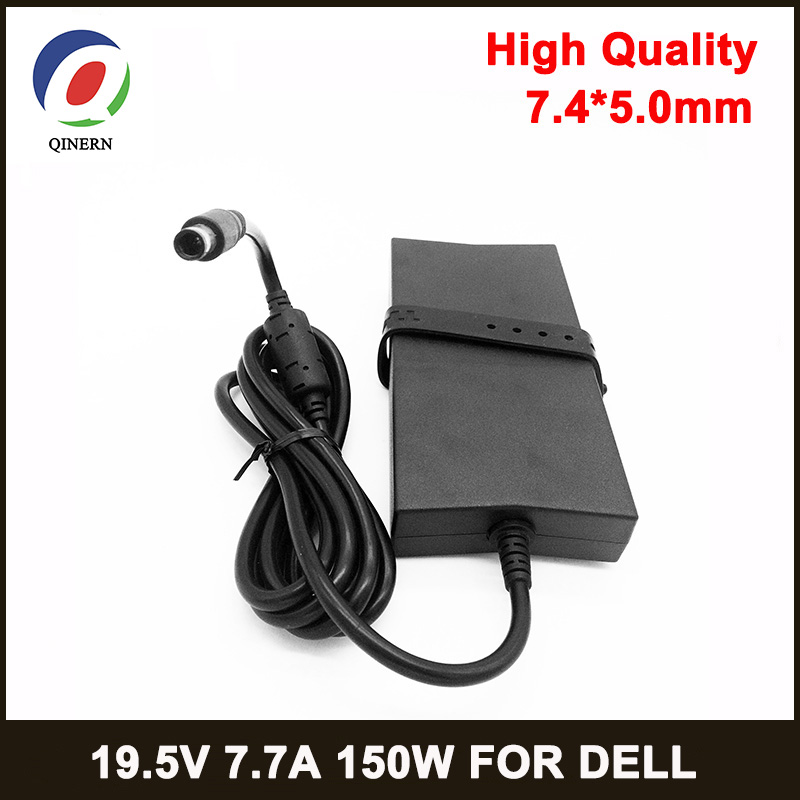 QINERN 150W Power Supply 19.5V 7.7A 7.4*5.0mm Laptop Adapter for Dell Gaming