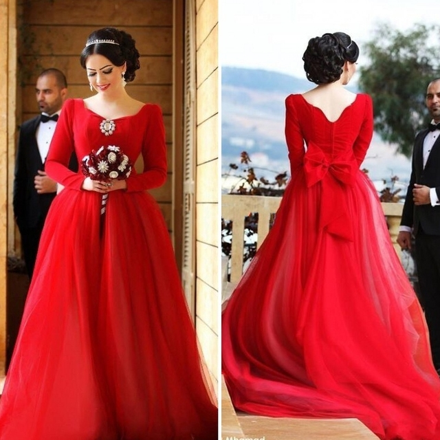 Robe rouge mariage turc