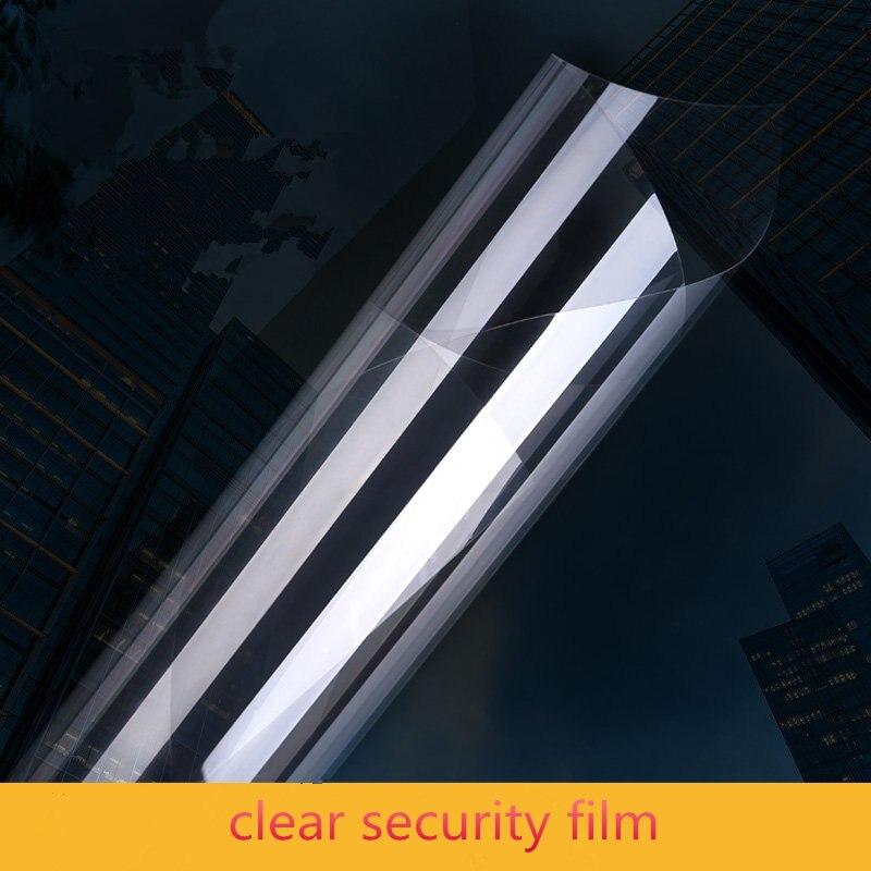 1.52x12 m 12 Mil clair sécurité et sécurité fenêtre verre autocollant pare-balles Anti incassable fenêtre Film rupture force 350 lbs/in